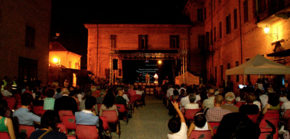 A performance at the International Festival of the Commons, in Chieri, Italy.