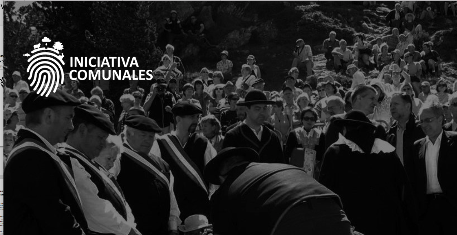 Iniciativa Comunales – a Spanish initiative to secure the Commons