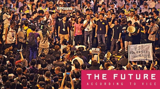 People gather during last year's Occupy Hong Kong protests. Photo via Flickr user johnlsl
