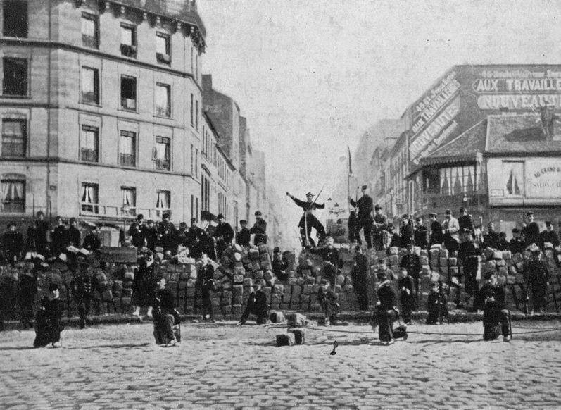 Communard at the barricades during the Paris Commune.